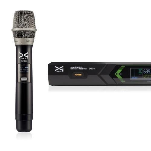 میکروفن بی سیم دو دستی دیجی تک DG Tech D6021