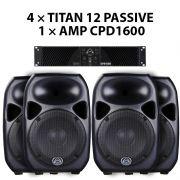قیمت ست بلندگو TITAN12 + CPD1600