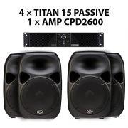 قیمت ست بلندگو TITAN15 + CPD2600