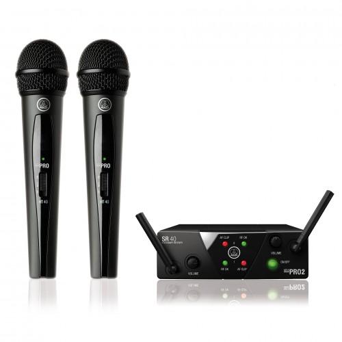 میکروفن بی سیم دو دستی آکاجی AKG WMS40 mini