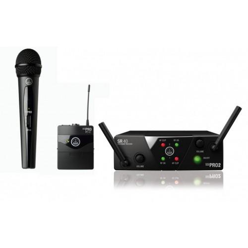 میکروفن بی سیم تک دستی و یقه ای آکاجی AKG WMS40 mini